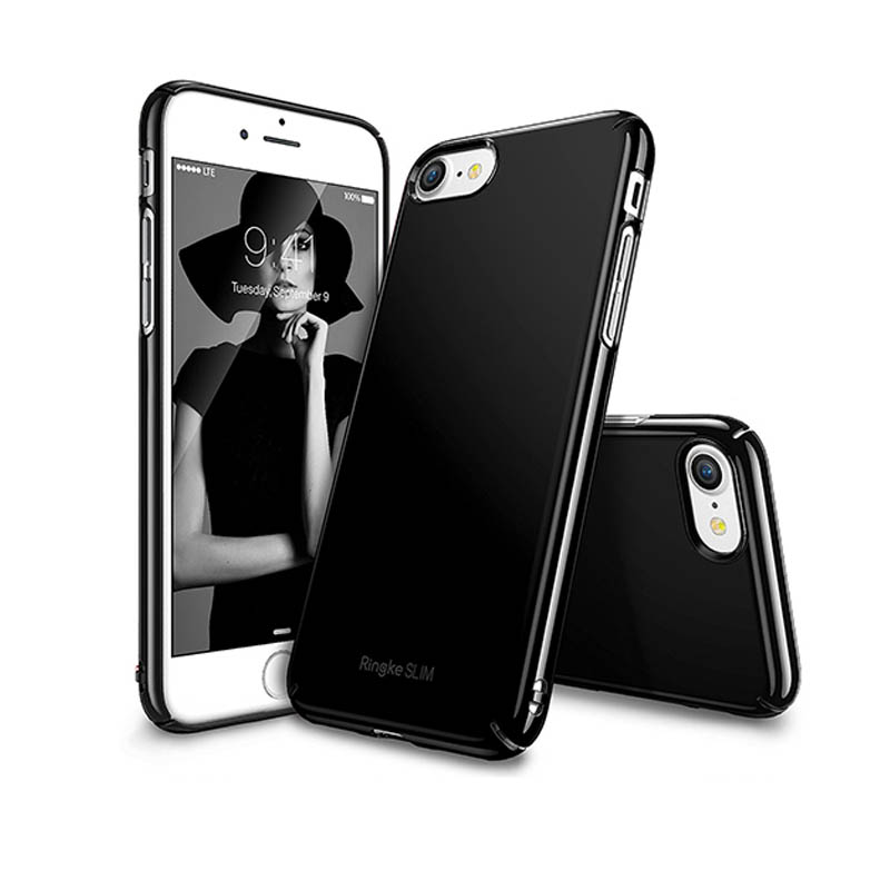 Ringke iPhone 7 Slim Hard Case - Gloss Jet Black