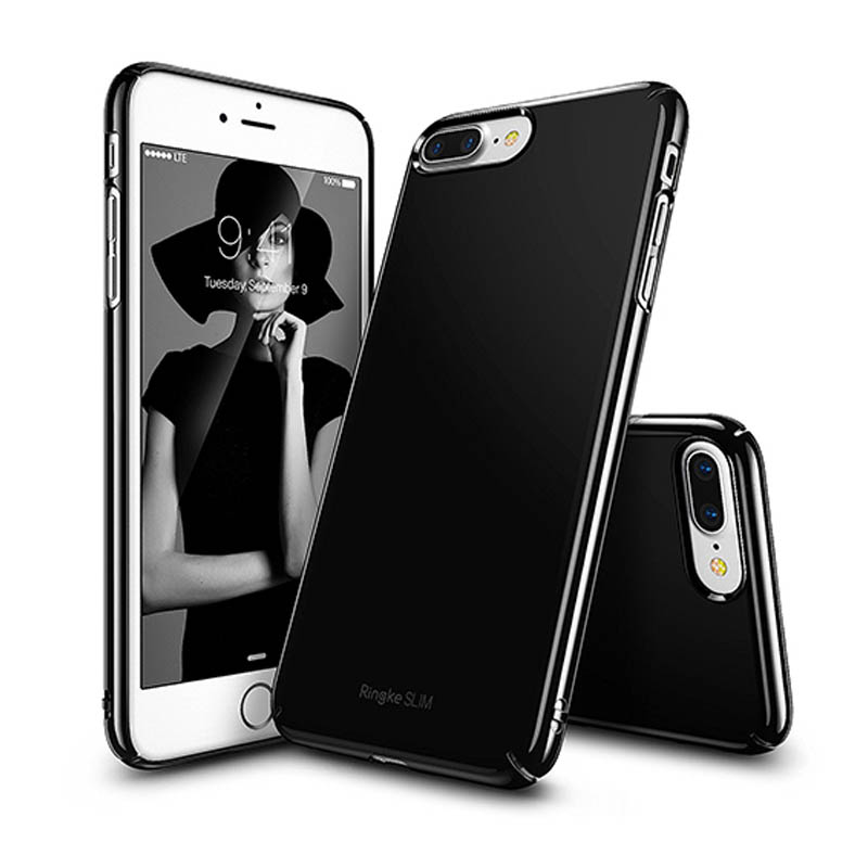 Ringke iPhone 7 Plus Slim Hard Case - Gloss Jet Black