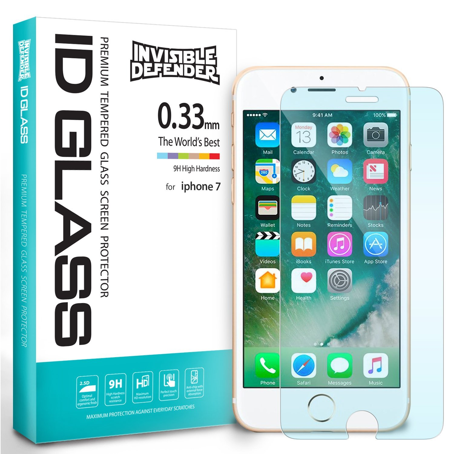 Ringke iPhone 7 Tempered Glass Screen Protector 0.3mm