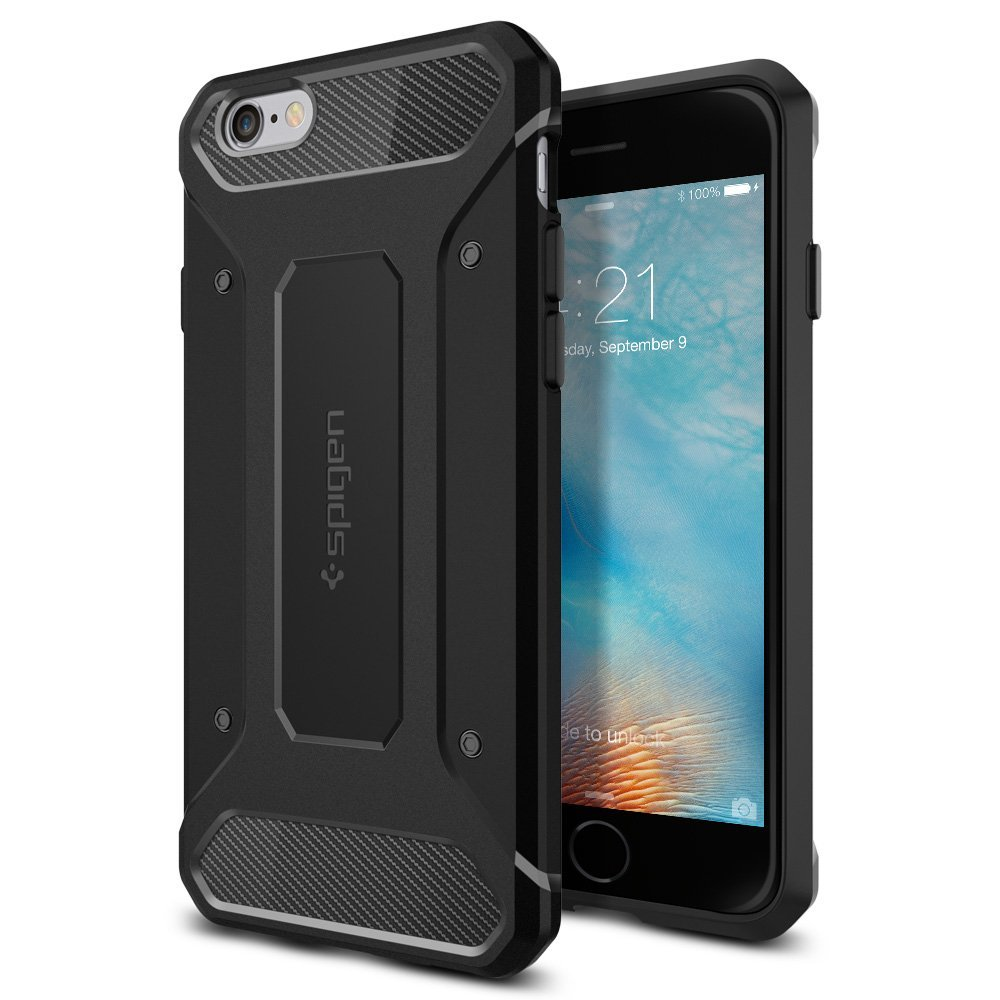 Spigen iPhone 6 Plus - 6S Plus Soft Case Capsule Ultra Rugged - Hitam