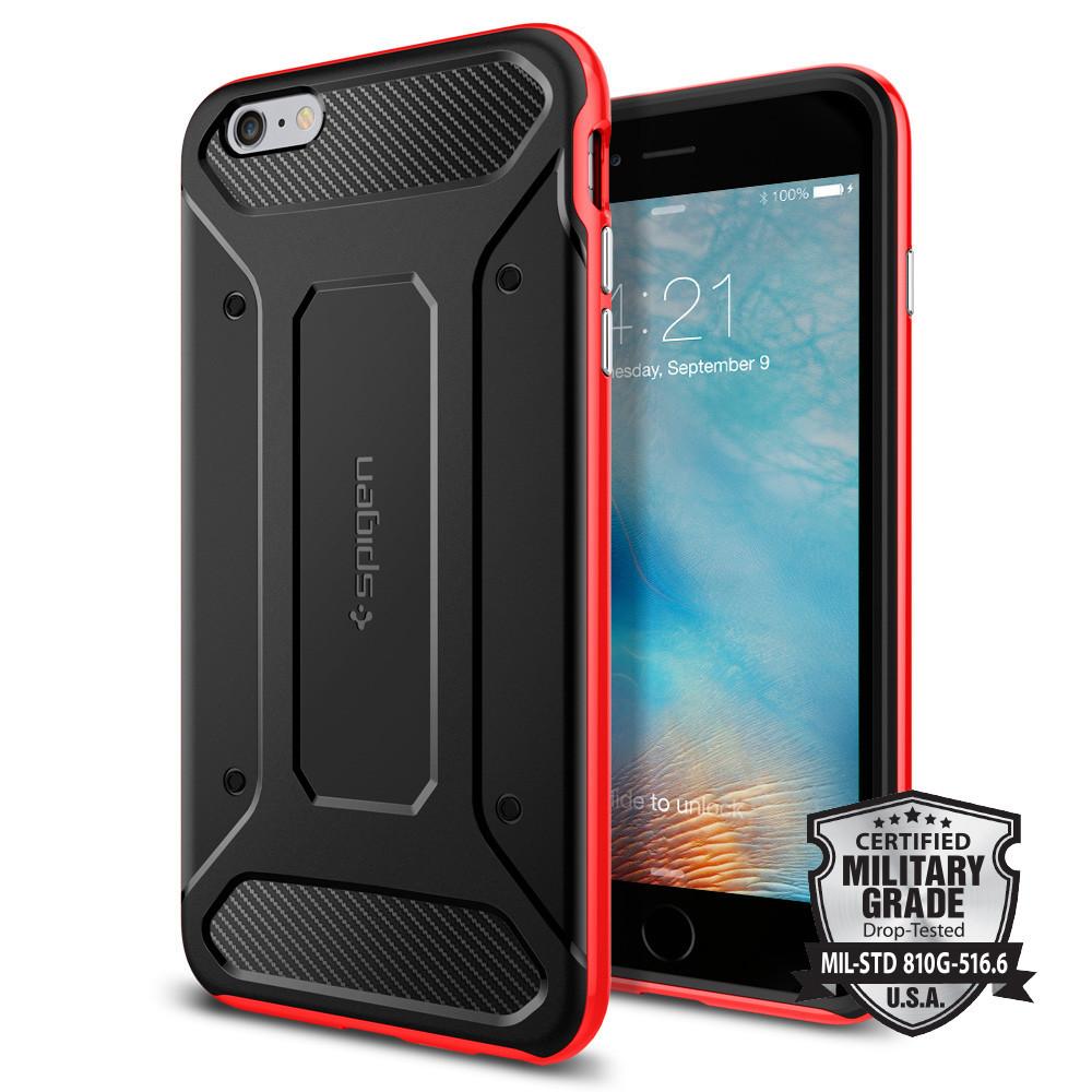 Spigen iPhone 6 Plus - 6S Plus Case Neo Hybrid Carbon - Red