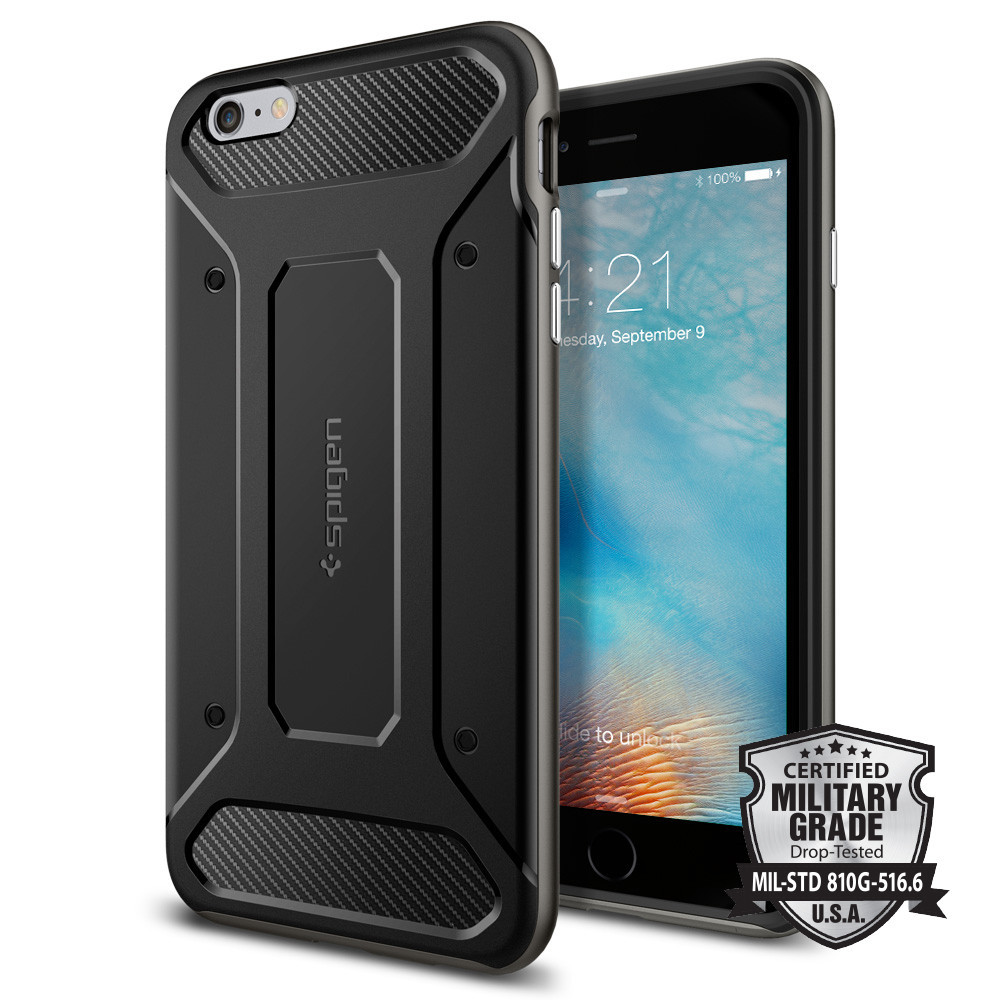 Spigen iPhone 6 Plus - 6S Plus Case Neo Hybrid Carbon - Gun Metal