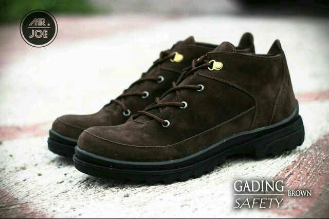 sepatu boot safety mr joe gading brown original