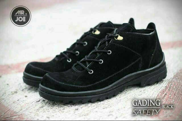 sepatu boot safety mr joe gading black original