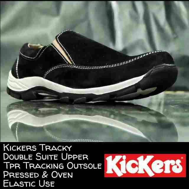 kickers tracky black