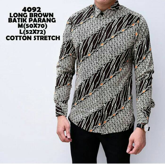 Jual Baju Kemeja Batik Pria Lengan Panjang  Kemeja Casual Batik