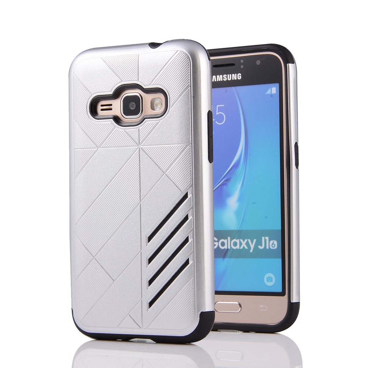 Samsung Galaxy J1 2016 Shark Stripe Elegant Dual Layer Armor Case
