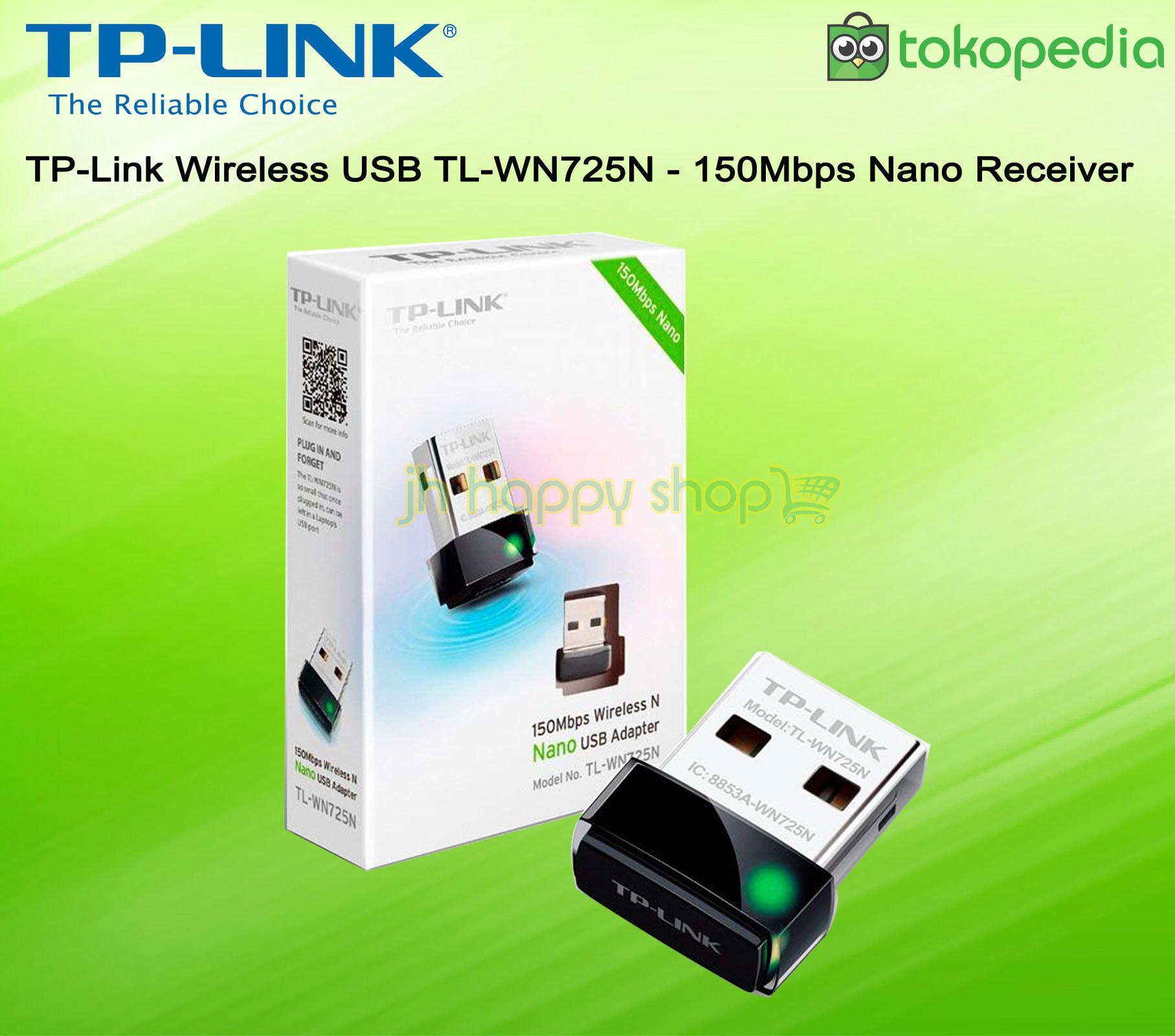 Jual Tp Link Wireless Receiver Nano Usb Adapter Wifi Tl Wn725n 150mbps N Jh Happy Shop Tokopedia