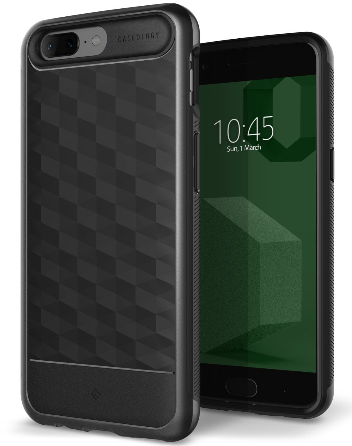 Caseology Galaxy Oneplus 5 Case Parallax Series - Black