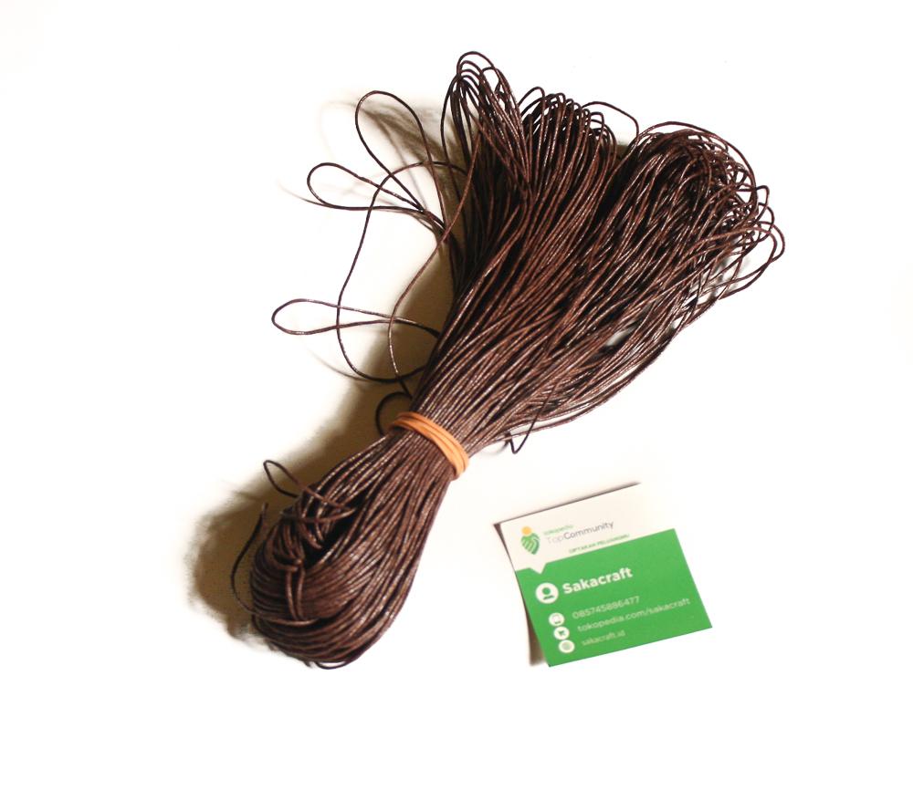 Jual Tali Kulit Sintetis 1mm Hitam 1meter Gelang Kalung Ikat Produk Ukm Bumn Tempat Tisu Handmade Trenggalek Aksesoris