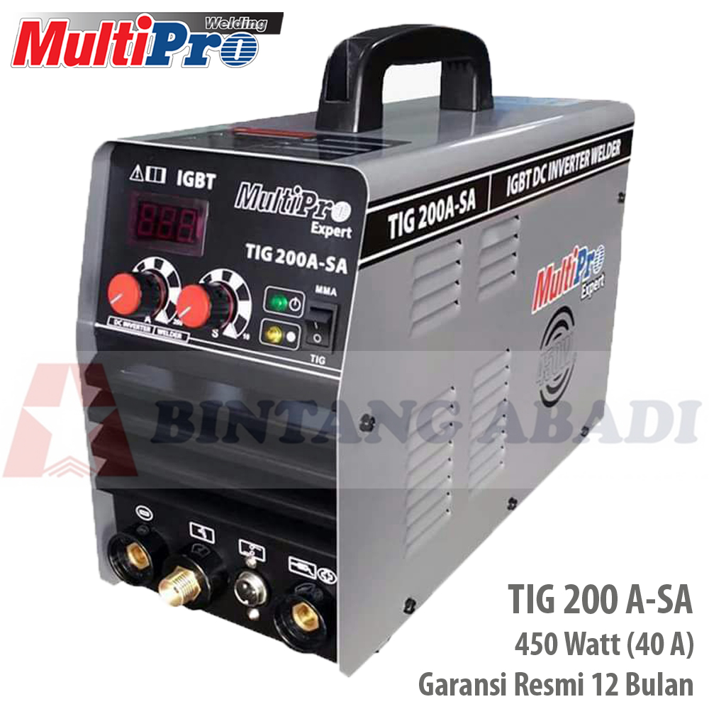 harga Multipro Mesin Las Argon 450 Watt (40 A) Tig 200 A-sa - Inverter Welding Bisa Mma Blanja.com