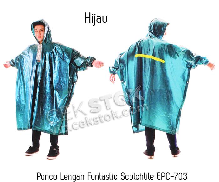 Promo Jas Hujan Poncho Lengan Funtastic Scotchlite EPC-703 pada Tokopedia