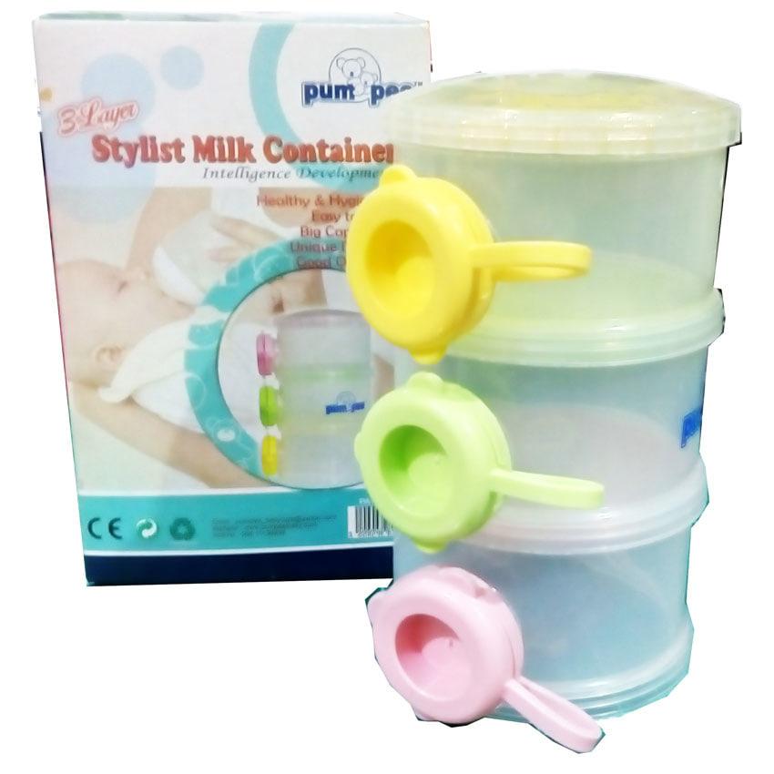 Jual Pumpee Milk Powder 3 Layer - Tempat Susu Formula - Momo Baby Shop | Tokopedia