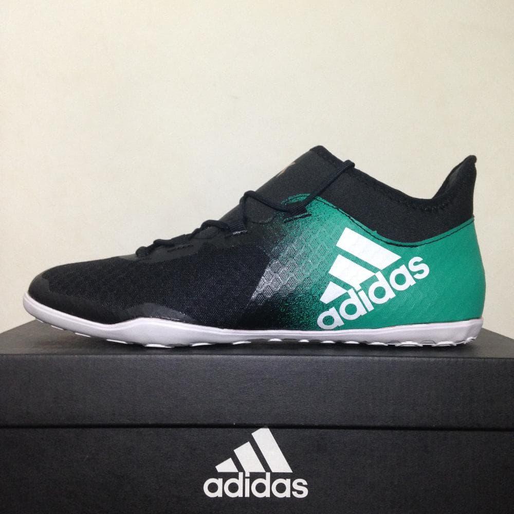 d0d460cb sepatu futsal adidas x tango 16.2 in black green ba9826 original bnib