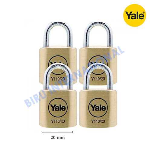 Gembok YALE Y110/20/111/4 (Classic Series Outdoor Solid Brass Padlock)