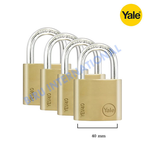 Gembok YALE - YE1/40/122/4 (Brass Padlock Series - ORI) - Blanja.com