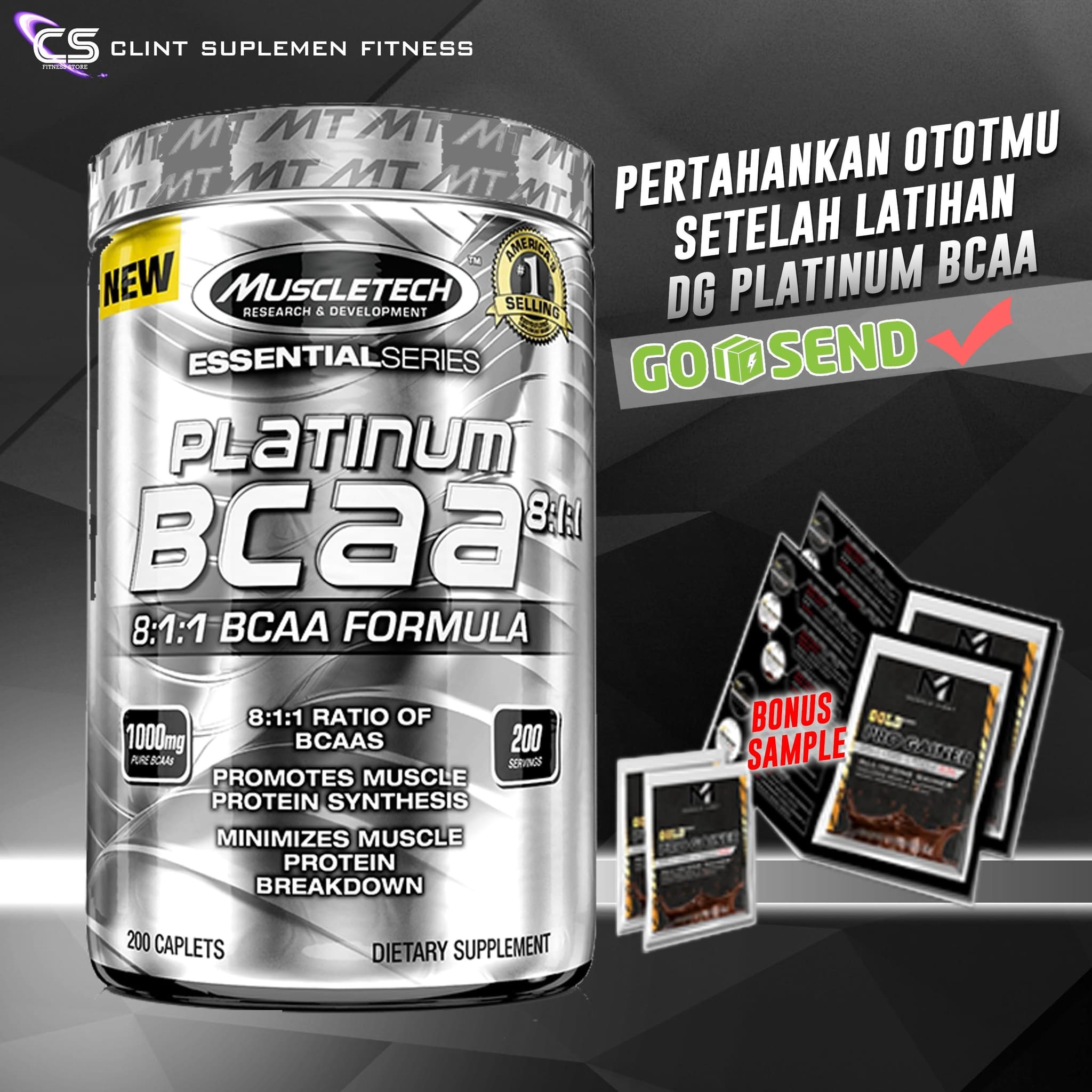Dymatize Nutrition Bcaa Complex 2200 400 Kaplet Referensi Daftar Bpom Aom Met Rx 180 Softgel Harga Metrx Softgels Source Muscletech Platinum 811 200 Caps Clint Suplemen Fitness Tokopedia