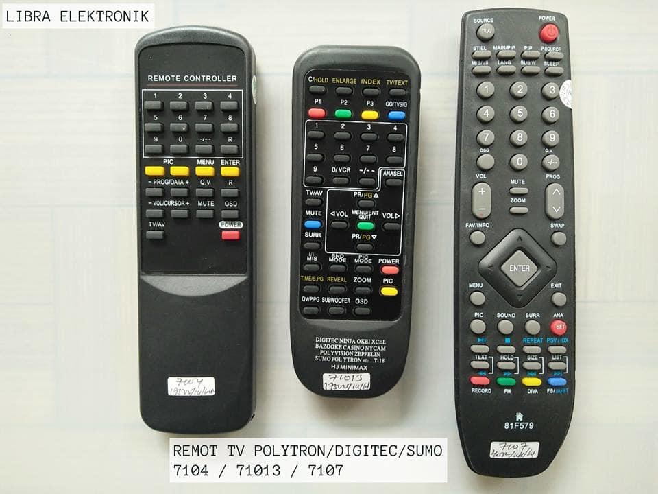 harga Remot Tv Multi Polytron Led Dan Lcd Yang Kode Nya 7107 Blanja.com