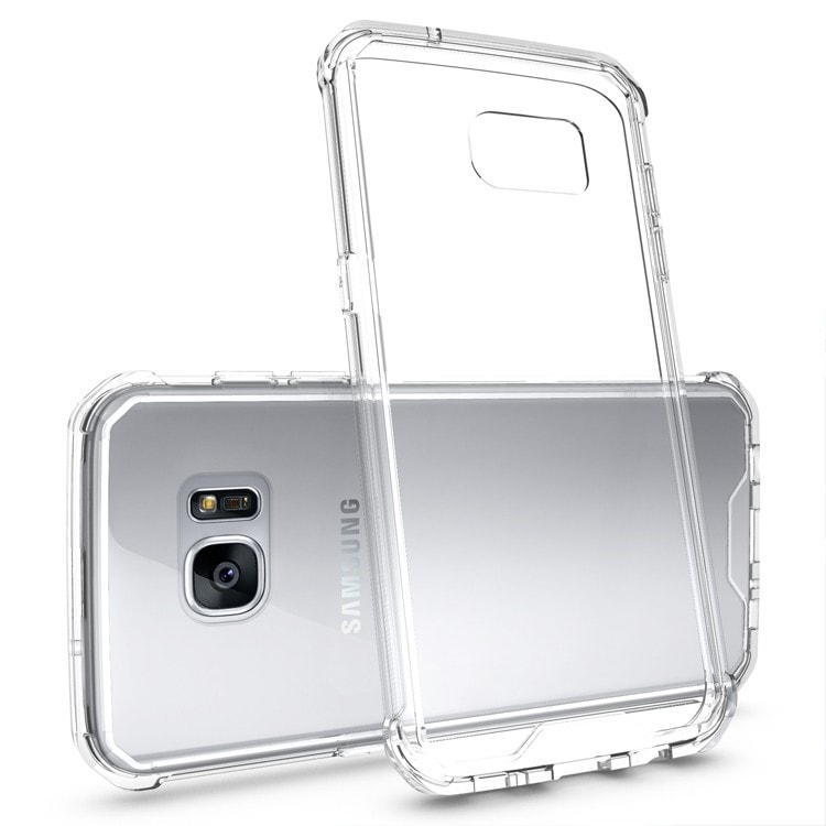 Samsung Galaxy S7 Edge Clear Back  Panel TPU Air Cushion Hybrid Case