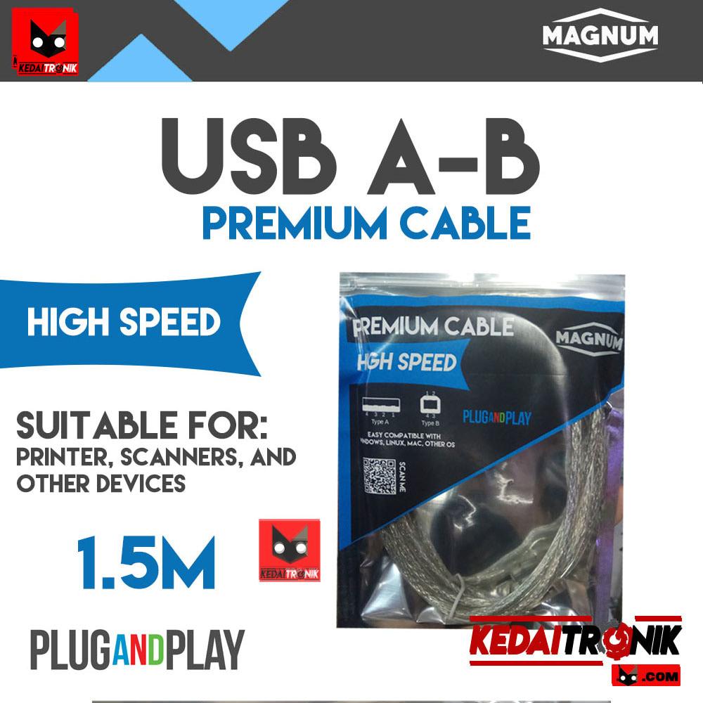 Kabel USB A-B 1.5M MAGNUM Printer Scanner AB 1.5 1,5 Meter ORIGINAL HQ