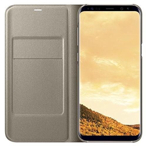 Samsung Galaxy S8 Plus Case LED Flip Wallet - Gold Original