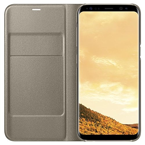 Samsung Galaxy S8 Case LED Flip Wallet - Gold Original