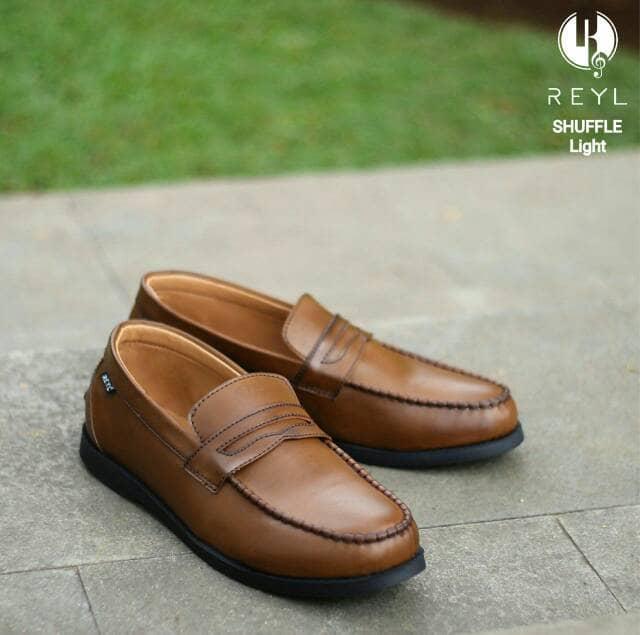 Jual Free Bonus !!! Sepatu Slipom Murah REYL Original (Kulit Asli)NEW TAN -  Cokelat Muda aa525636ad