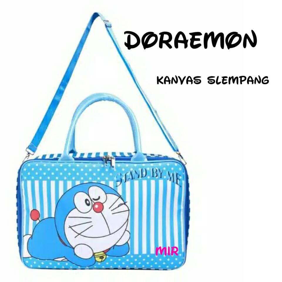 Amt Tas Travel Doraemon Kanvas Tebal Slempang Panjang Koper Mudik Piknik - Blanja.com