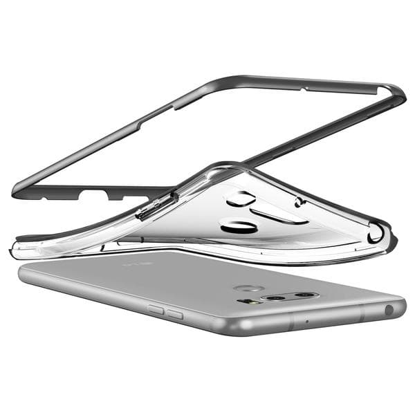 Verus LG V30 Case Crystal Bumper - Steel Silver