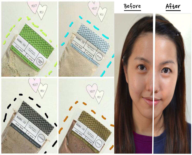 Jual Masker Wajah Organik By Namo Namoid Face Mask Ready Give Cocoa Shop Tokopedia