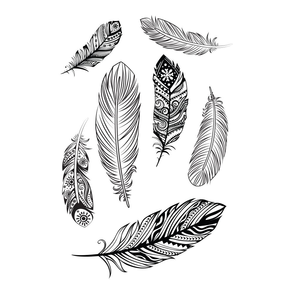 Lolitattoo Temporary Tattoo Falling Feathers thumbnail