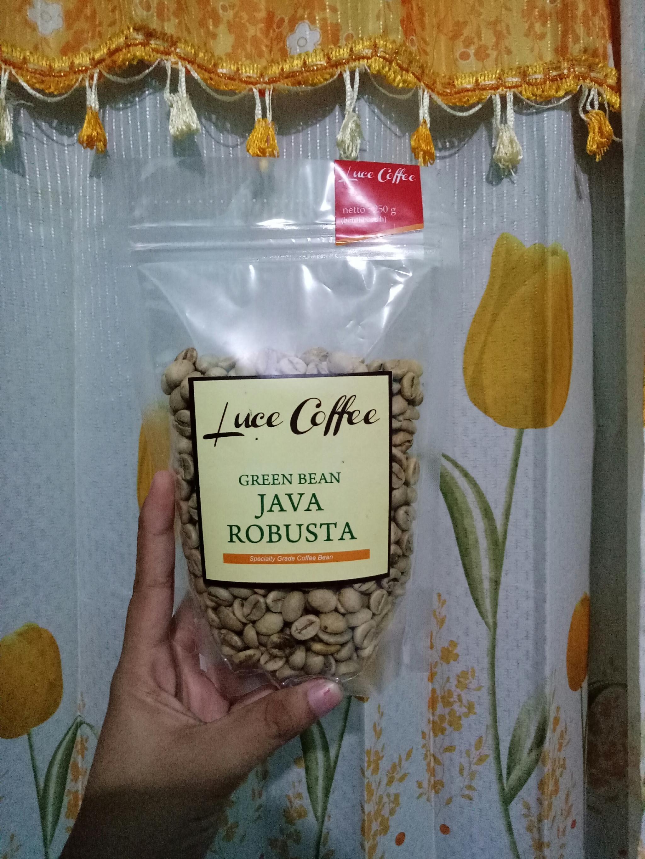 Jual Green Coffee Bean Kopi Diet Biji Hijau Luce Java Robusta Kedai Shopping Tokopedia
