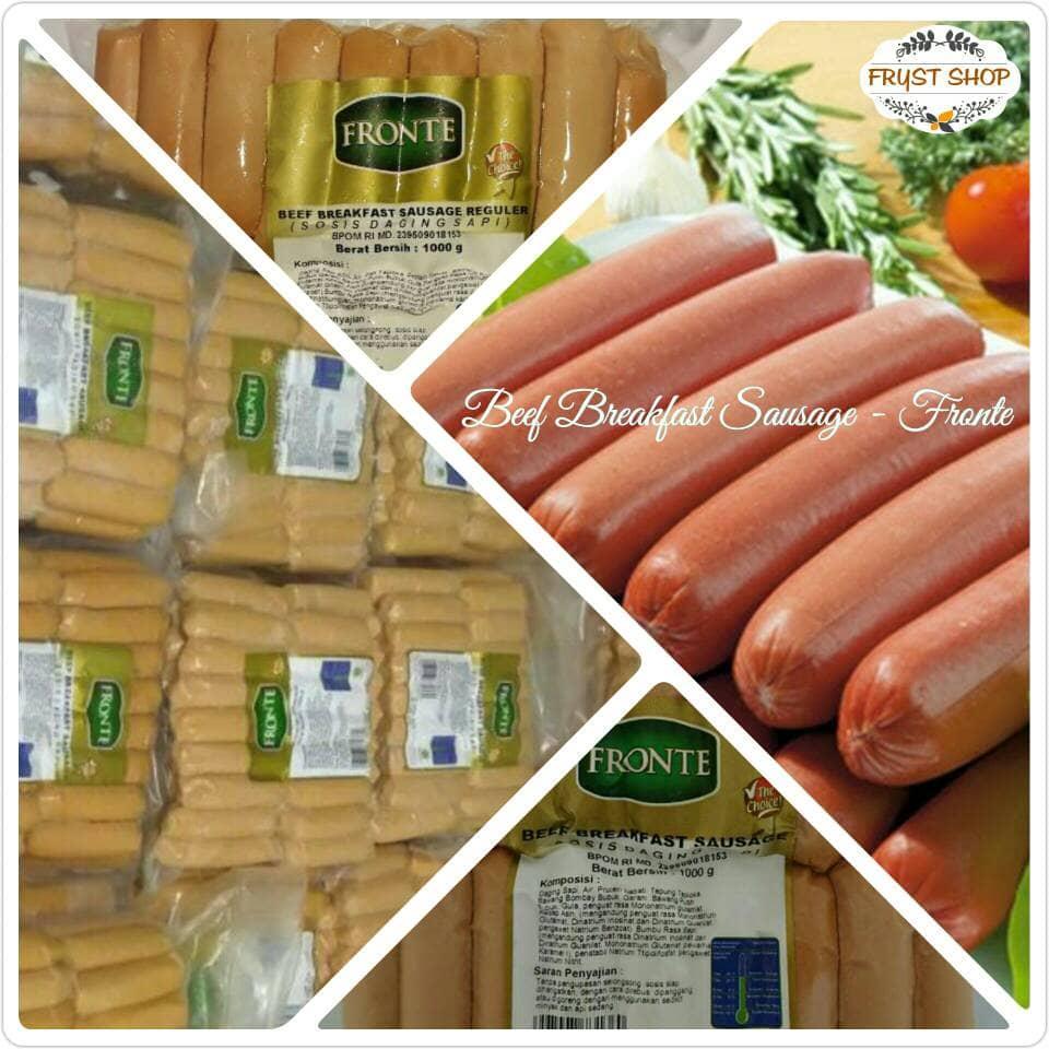 Jual Fronte Sosis Sapi 1 Kg Promo Frystshop Tokopedia Beef Breakfast