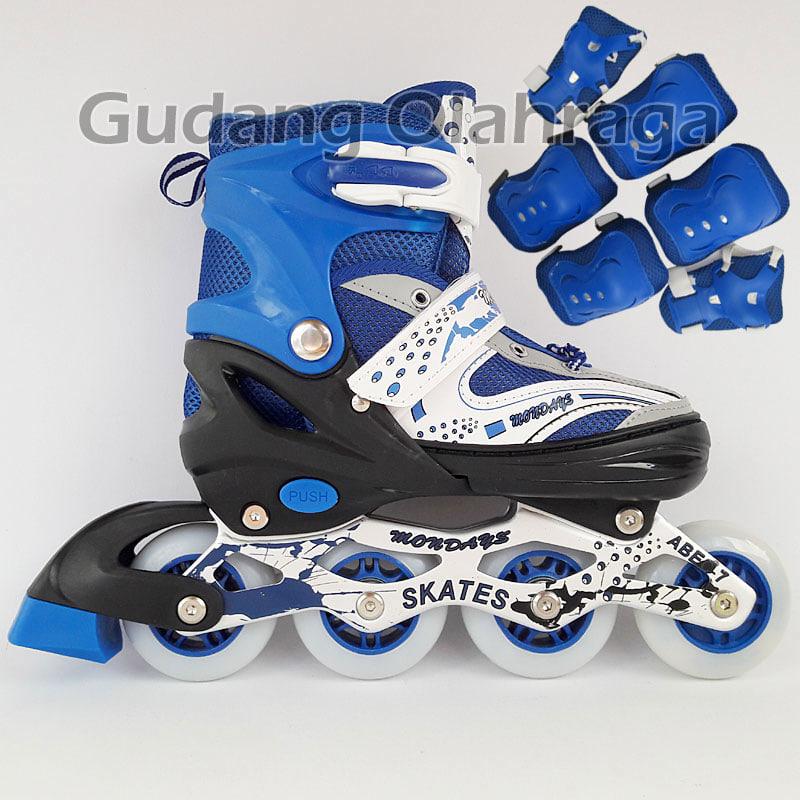 Jual Sepatu Roda + Deker   Pelindung Inline Skate Satu Set  134b9d49fa