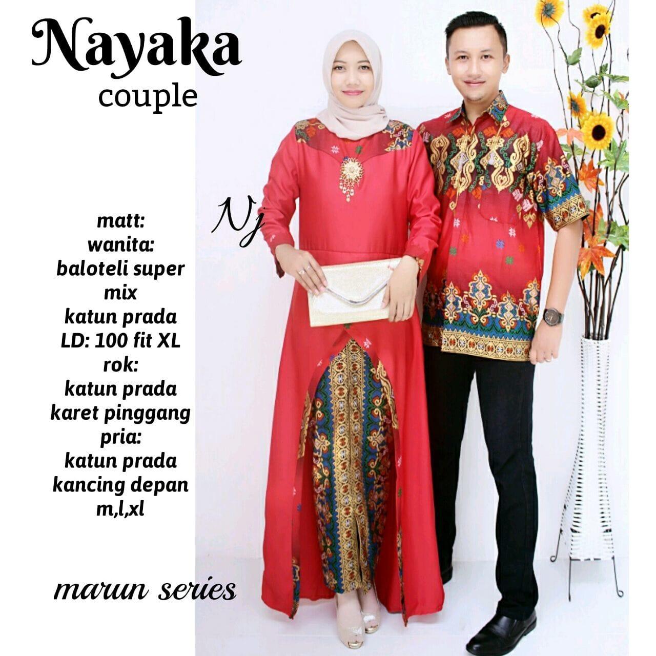 MURAH Baju Couple Batik - Baju Batik Couple - Sarimbit Batik Gradasi 0e30c518ee