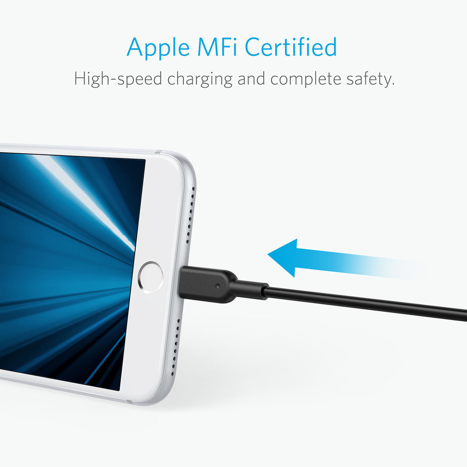 Anker Powerline Ii Cable Lightning 1ft For Kabel Iphone A8431011 - Blanja.com
