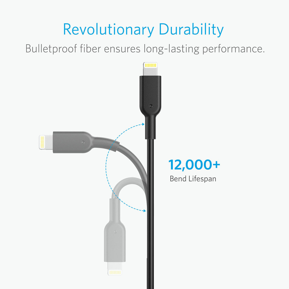 Anker Powerline Ii Cable Lightning 1ft For Kabel Iphone A84 - Blanja.com