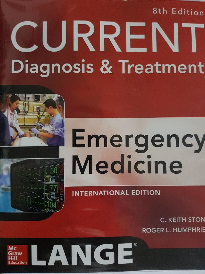[ORIGINAL] Current Diagnosis Treatment Emergency Medicine 8e - Stone