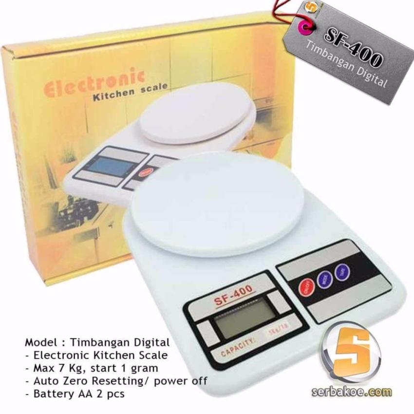 Sf 400 10kg Timbangan Digital Dapur Putih