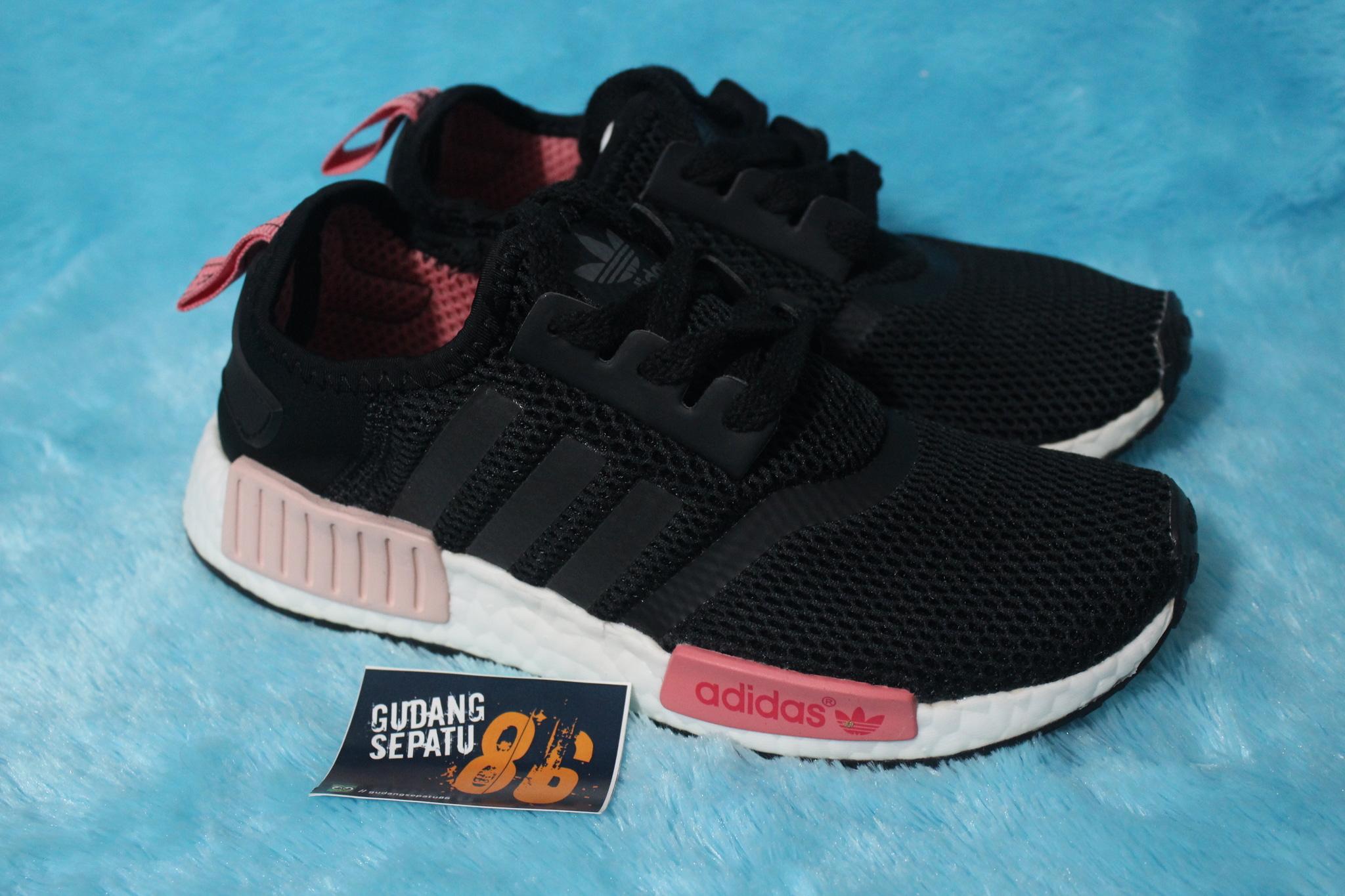 258321cb56127 Jual Sepatu Adidas NMD R1 Black Core Peach Pink Womens - Premium Quality -  Gudang Sepatu86