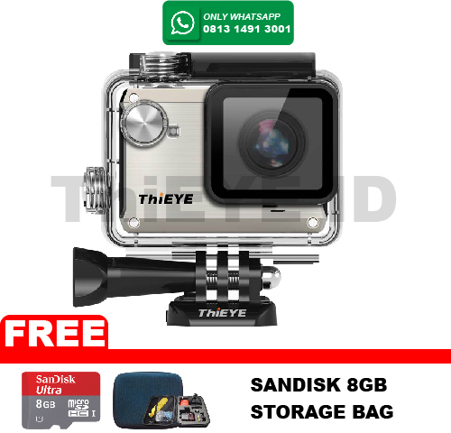 ActionCam ThiEye i30 12MP/Wifi Grey FREE Sandisk 8GB+Storage Bag