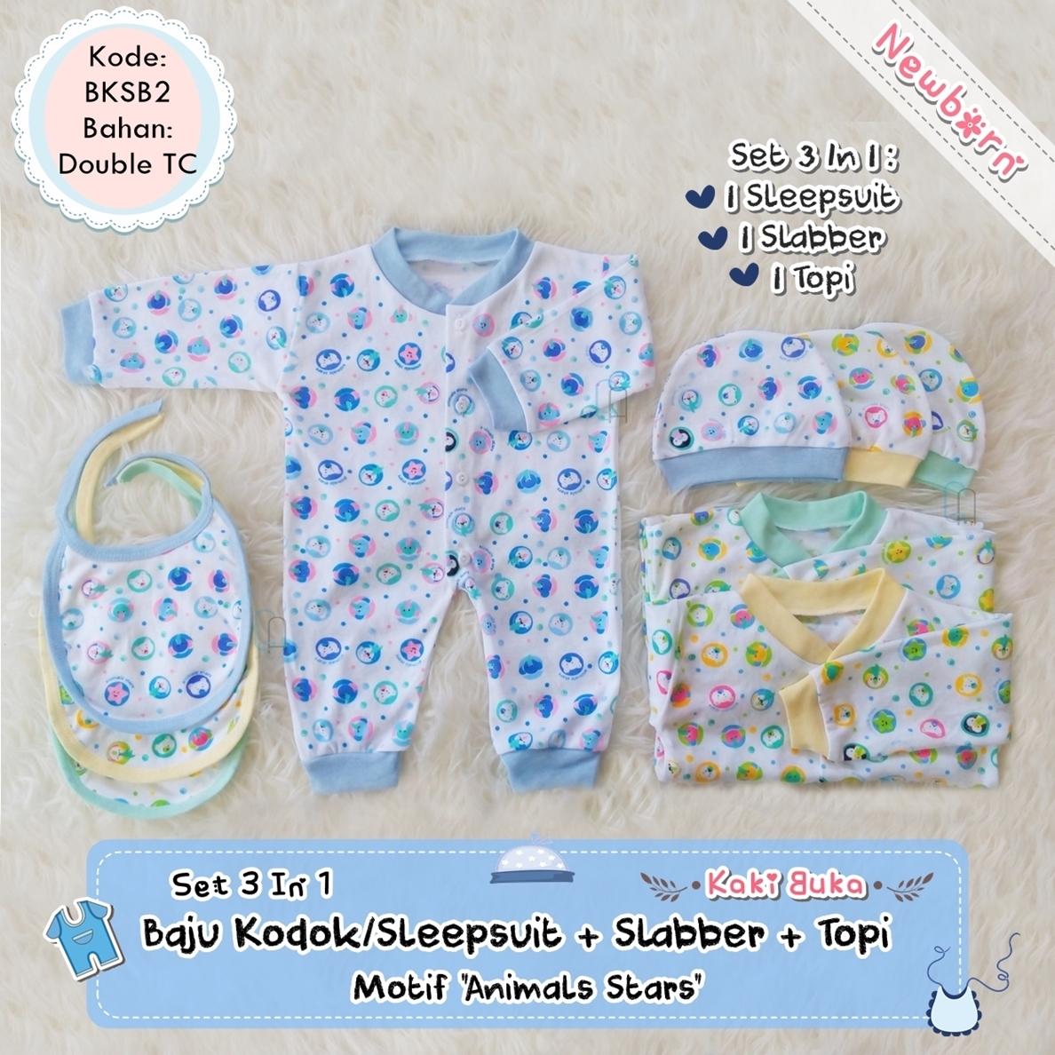 Jual Set Baju Kodok Sleepsuit Kaki Buka + Slabber +topi Kupluk Bayi ... 0a42d7f360