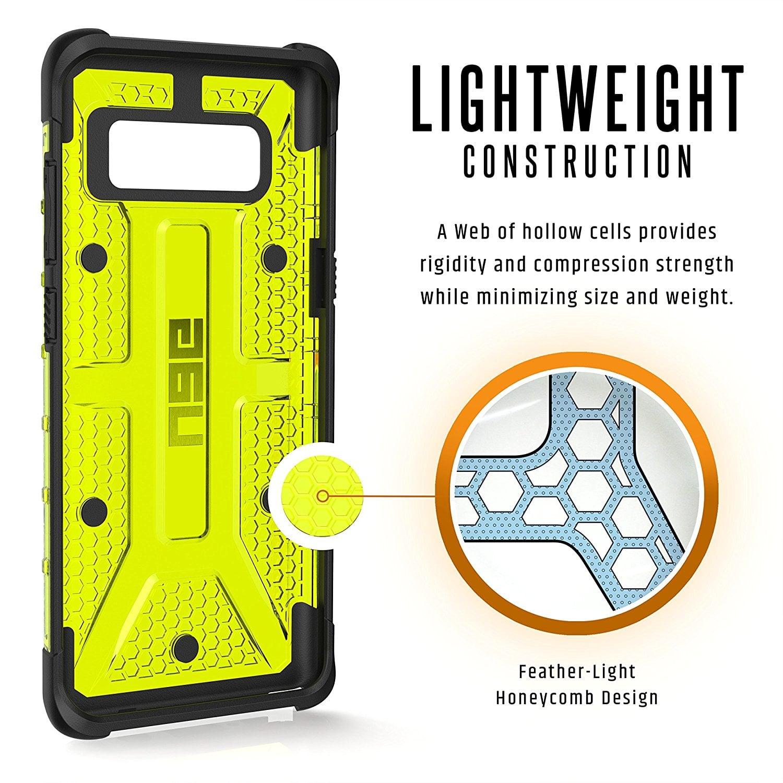 UAG Galaxy Note 8 Case Plasma Case Citron Yellow Transparent - ORI