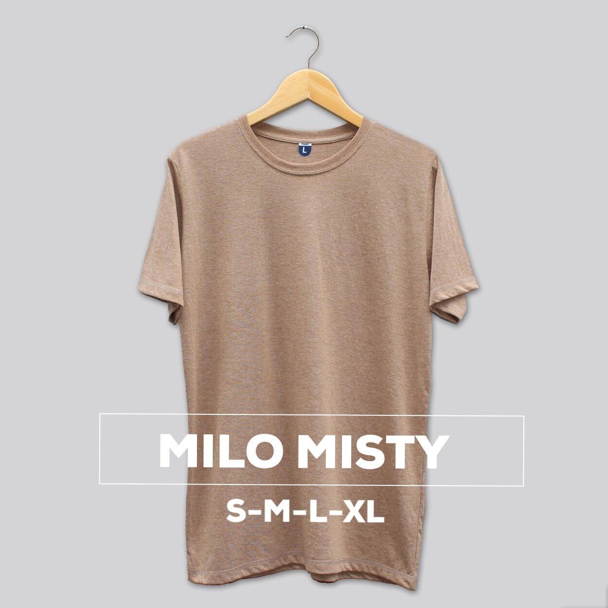 Jual Kaos Polos Tshirt Milo Misty Black