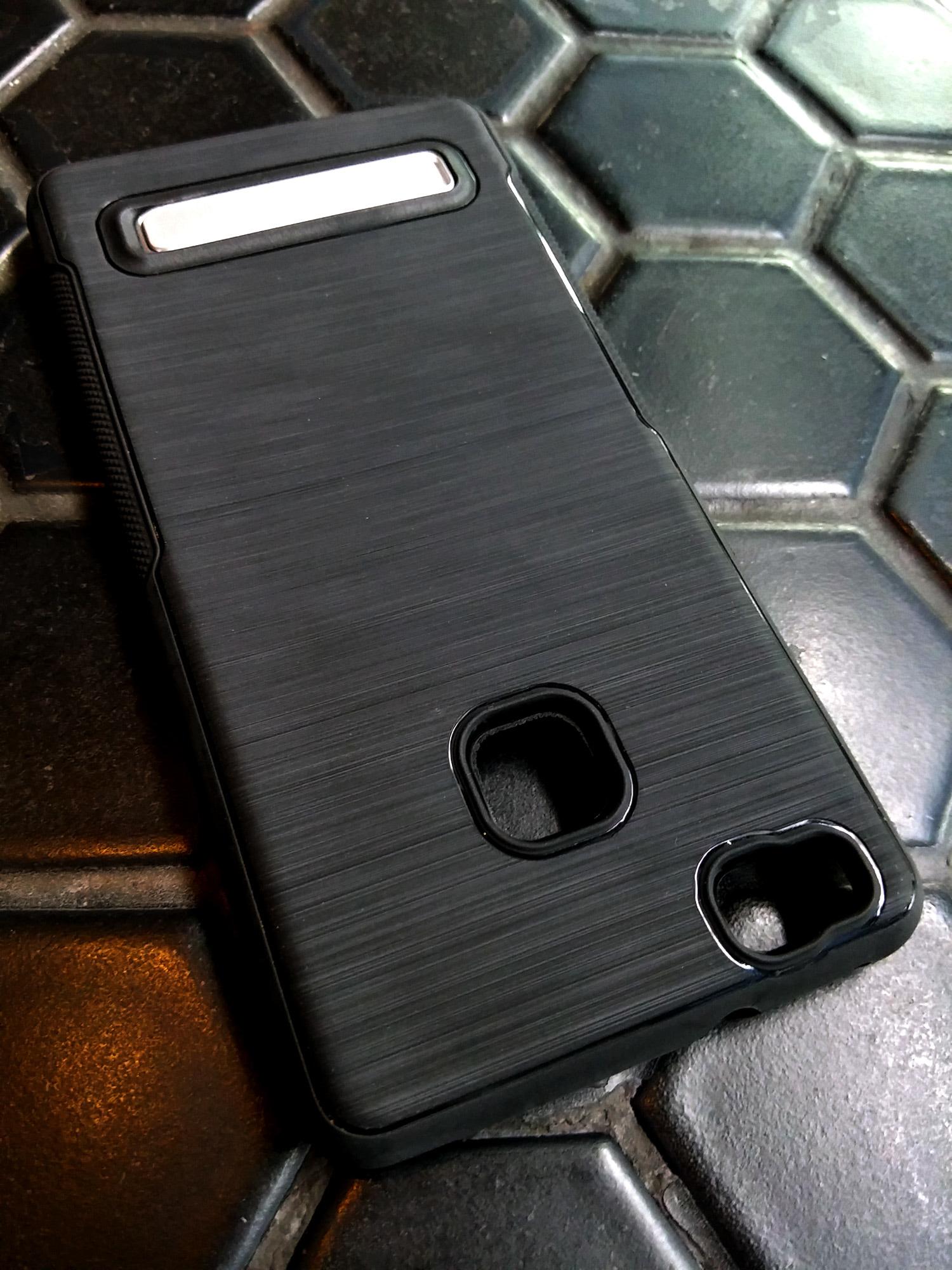 Huawei P9 Lite Luxury Brush Texture Thin Softgel Standing Case