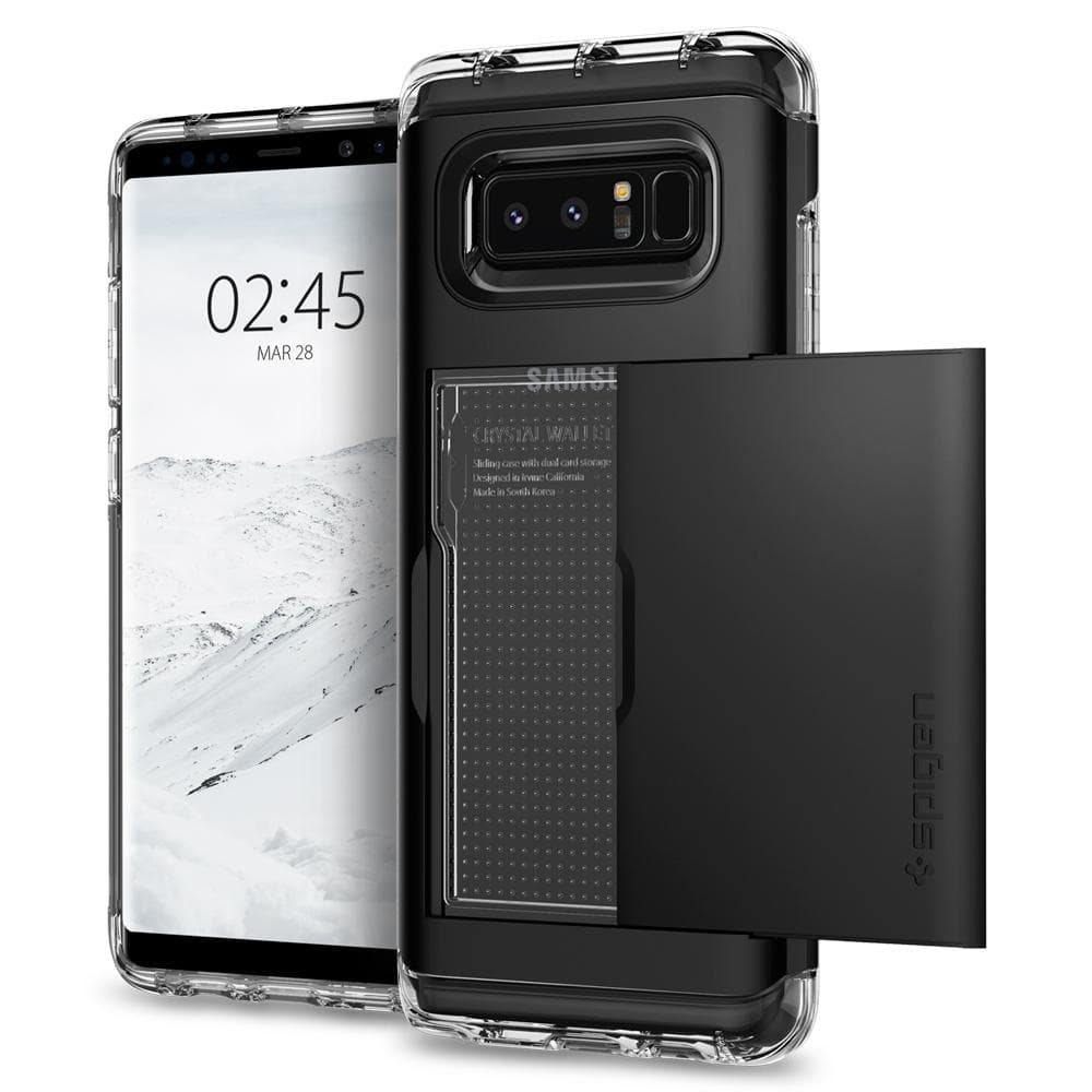 Spigen Galaxy Note 8 Case Crystal Wallet - Black