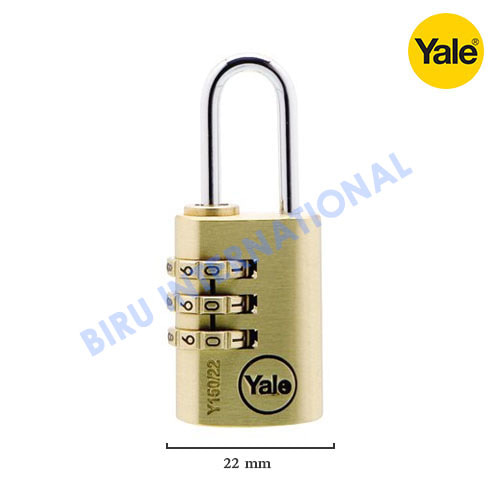 Gembok YALE - Y150/22/120/1 (Class Series Indoor solid brass Combinatin)