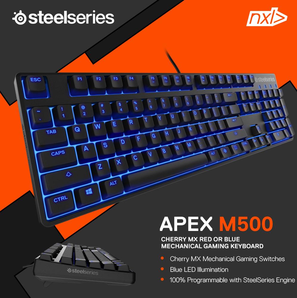 Jual Steelseries Keyboard Apex M500 Blue Cherry Switch Teamnxl Mechanical Red Tokopedia
