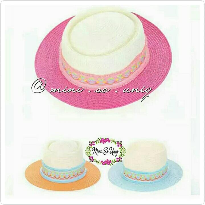 71f34f80da9 Jual Kid Rainbow Straw Beach Hat Miniso - mini.so.uniq