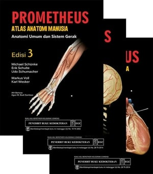 [ORIGINAL] Prometheus Atlas Anatomi Manusia ed.3 , set 3 buku